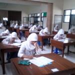 Suasana Ujian Siswa SMK Islam 1 Prambanan